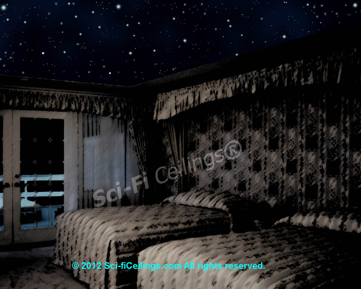 Uncategorized Star Ceiling Paint welcome to sci ficeilings com turn the lights out at night and watch your ceiling magically come alive with real twinkling stars shooting milky way